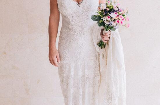 Fotos de boda en la playa de Málaga Boho