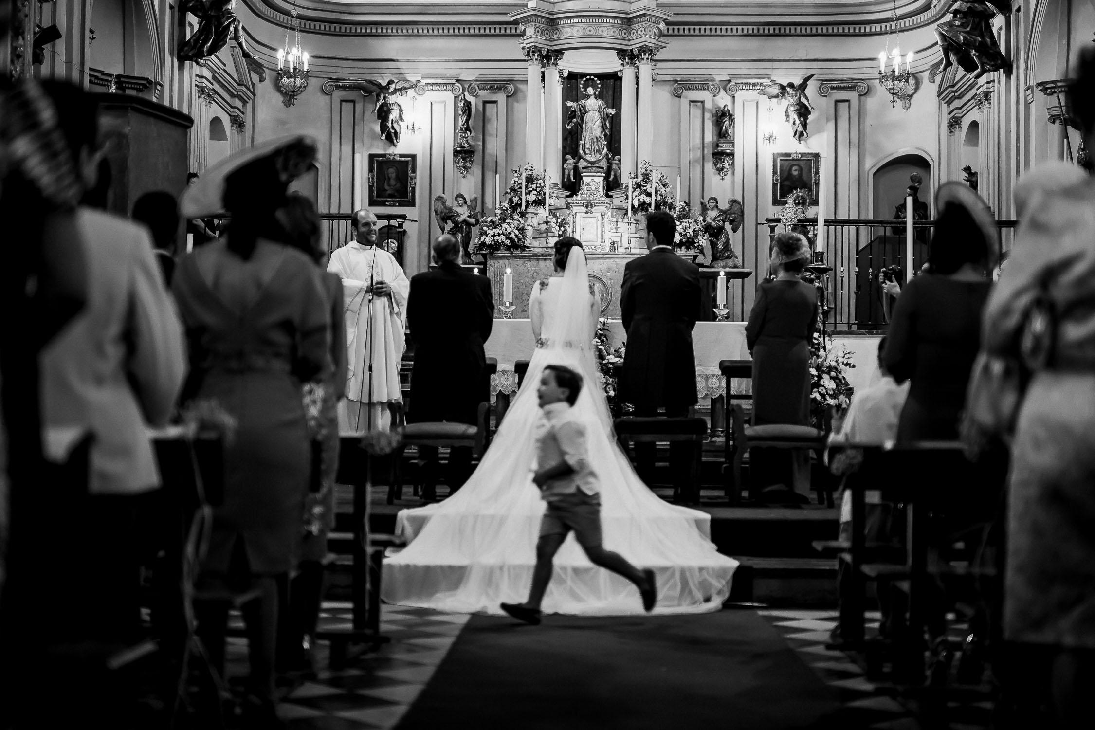 Fotos de boda en Granada Iglesia de Santa Ana y Palacio de Carlos V
