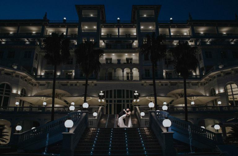 Fotos boda elegante Málaga Gran Hotel Miramar